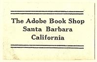 The Adobe Book Shop, Santa Barbara, California (32mm x 20mm). Courtesy of S. Loreck.