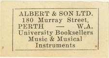 Albert & Son, Perth, Australia (approx 37mm x 19mm)
