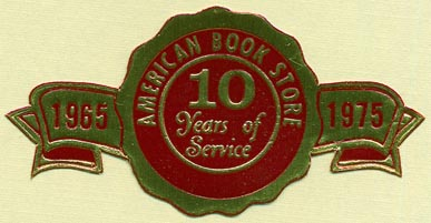 American Book Store (63mm x 32mm, ca.1975)