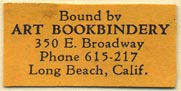 Art Bookbinder, Long Beach, California (29mm x 14mm). Courtesy of Donald Francis.
