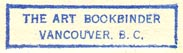 The Art Bookbinder, Vancouver BC, Canada (29mm x 7mm, before 1950).