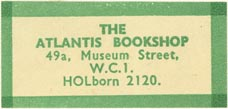 The Atlantis Bookshop, London, England (37mm x 18mm). Courtesy of J.C. & P.C. Dast.
