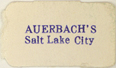Auerbach's, Salt Lake City, Utah (approx 19mm x 11mm)