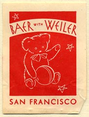 Baer with Weiler, San Francisco, California (28mm x 38mm)