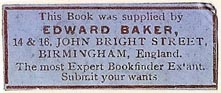 Edward Baker, Birmingham, England (36mm x 14mm). Courtesy of Stephen Loreck.