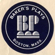 Baker's Plays, Boston, Massachusetts (31mm dia.). Courtesy of R. Behra.