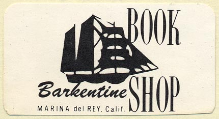 Barkentine Book Shop, Marina del Rey, California (70mm x 37mm). Courtesy of Donald Francis.