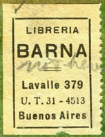 Libreria Barna, Buenos Aires, Argentina (25mm x 33mm). Courtesy of R. Behra.