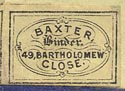 Baxter, Binder, London, England (18mm x 13mm, 19th c.)