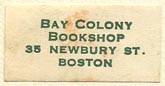 Bay Colony Bookshop, Boston, Massachusetts (26mm x 13mm). Courtesy of Sarah Faragher.