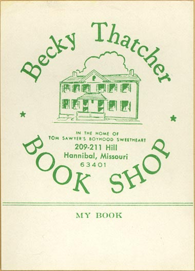 Becky Thatcher Book Shop, Hannibal, Missouri (approx 63mm x 87mm)
