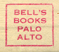 Bell's Books, Palo Alto, California (inkstamp, 16mm x 14mm, ca.1970s)
