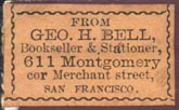Geo. H. Bell, San Francisco (26mm x 16mm)