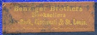 Benziger Bros., New York, Cincinnati & St Louis (32mm x 11mm, ca.1870s?)