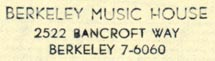 Berkeley Music House, Berkeley, California (inkstamp, 34mm x 8mm). Courtesy of R. Behra.