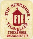 The Berkshire Traveller, Stockbridge, Massachusetts (approx 19mm x 22mm)
