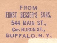 Ernst Besser's Sons, Buffalo, New York (26mm x 18mm)