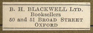 B.H. Blackwell, Ltd., Booksellers