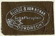 Blussé & Van Braam, Dordrecht, Netherlands (30mm x 19mm). Courtesy of S. Loreck.