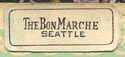 The Bon Marche [dept store], Seattle, Washington (19mm x 8mm, ca.1928)