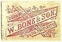 W. Bone & Son [Binders], London, England (21mm x 13mm). Courtesy of S. Loreck.
