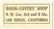 Book Lovers' Shop, San Diego, California (28mm x 14mm). Courtesy of S. Loreck.