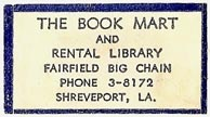 The Book Mart and Rental Library, Shreveport, Louisiana (31mm x 18mm). Courtesy of S. Loreck.