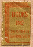 Books Inc., San Francisco, California (17mm x 25mm, as is). Courtesy of Donald Francis.