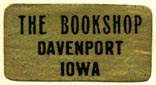 The Bookshop, Davenport, Iowa (25mm x 13mm, after 1924). Courtesy of R. Behra.