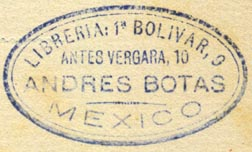 Andres Botas, Libreria, Mexico City (40mm x 23mm)