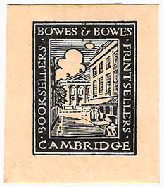 Bowes & Bowes, Cambridge England (38mm x 43mm, ca.1920s). Courtesy of Michael Kunze.