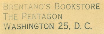 Brentano's Bookstore, The Pentagon, Washington, DC (55mm x 15mm)