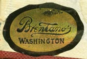 Brentano's, Washington, DC (28mm x 18mm, ca.1912)