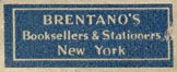 Brentano's, New York (26mm x 10mm)