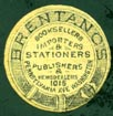 Brentano's, Booksellers, Importers & Stationers, Publishers & Newsdealers, Washington, DC (16mm diameter, after 1893)