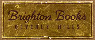 Brighton Books, Beverly Hills, California (51mm x 21mm). Courtesy of Donald Francis.
