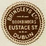 Brindleys Ltd, Bookbinders, Dublin, Ireland (16mm dia., c.1939). Courtesy of Robert Behra.