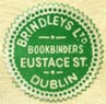 Brindleys Ltd, Bookbinders, Dublin, Ireland (16mm dia., c.1937). Courtesy of Robert Behra.