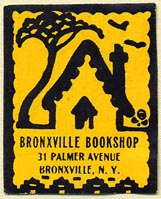 Bronxville Bookshop, Bronxville, New York (26mm x 32mm). Courtesy of Donald Francis.