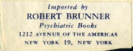 Robert Brunner, Psychiatric Books, New York (44mm x 16mm)