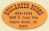 Buccaneer Books, Laguna Beach, California (25mm x 16mm). Courtesy of Donald Francis.