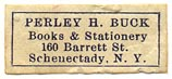 Perley H. Buck, Schenectady, New York (25mm x 11mm)