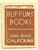 Buffum's Books, Long Beach, California (19mm x 25mm). Courtesy of Donald Francis.
