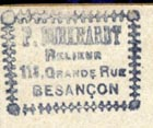 P. Burkhardt, Relieur, Besan�on [France] (21mm x 16mm)