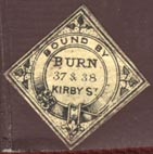 Burn & Co. (23mm x 23mm, ca.1860s)