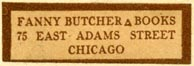 Fanny Butcher, Books, Chicago, Illinois (32mm x 10mm). Courtesy of Robert Behra.