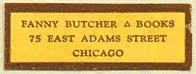 Fanny Butcher, Books, Chicago, Illinois (31mm x 11mm)