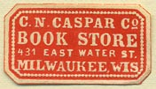 C.N. Caspar's Book Store, Milwaukee, Wisconsin (28mm x 15mm)