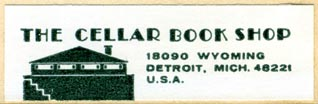 The Cellar Book Shop, Detroit, Michigan (52mm x 16mm). Courtesy of R. Behra.