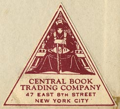 Central Book Trading Company, New York (40mm x 36mm)